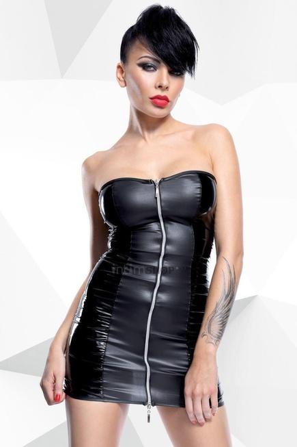 Кожаное платье на завязках Hard Candy collection Greta чёрное M
