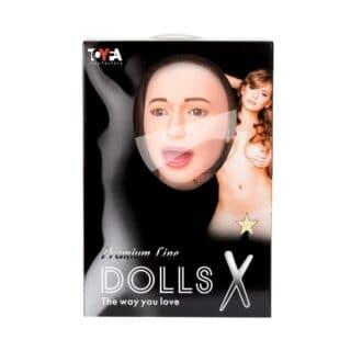 Кукла надувная ToyFa Dolls-X Gabriella с реалистичной головой, с тремя отверстиями, вставка вагинина-анус, телесный