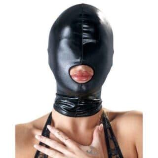 Маска на голову с отверстием для рта Bad Kitty, черная