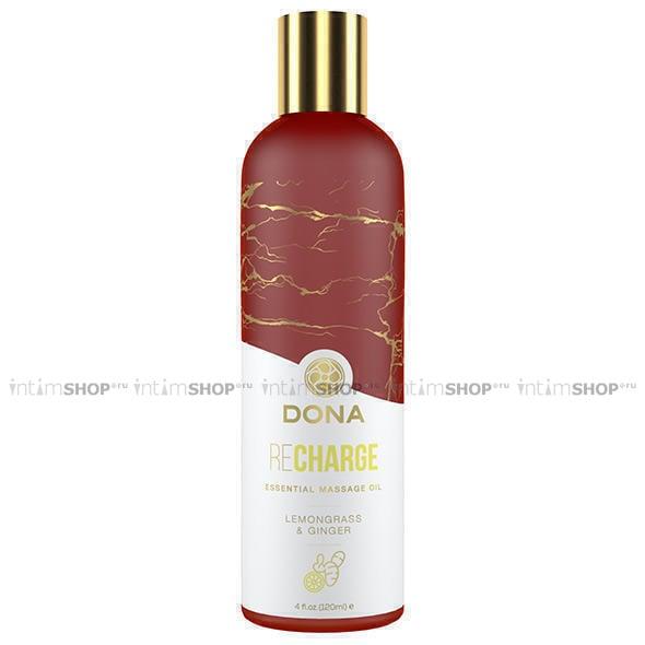 Массажное масло Dona с ароматом лемонграсса и имбиря, 120 мл