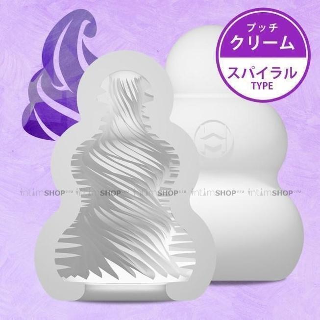Мастурбатор MensMax Pucchi Cream, белый, 6,5 см