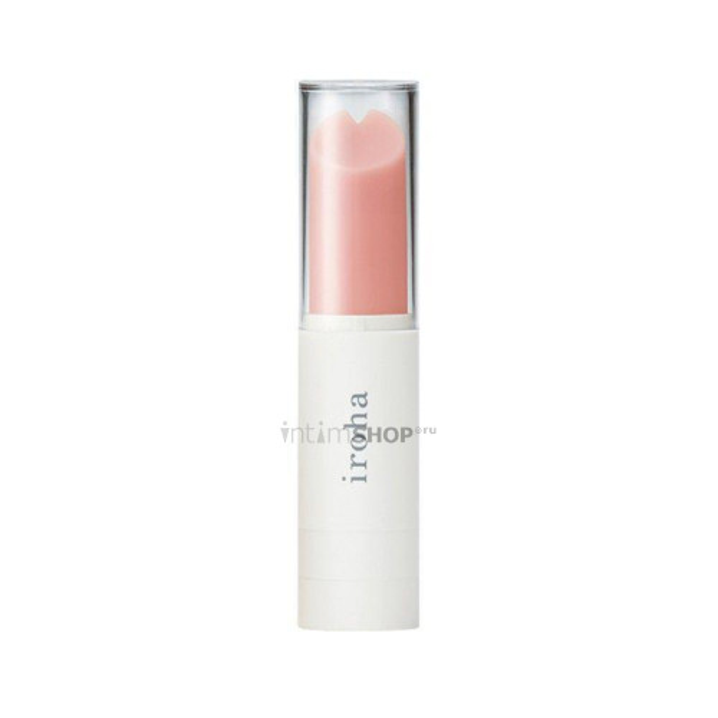Минивибратор Iroha Stick в виде губной помады, розово-белый