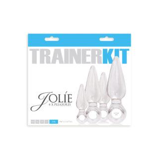 Набор анальных пробок NSNOVELTIES  Jolie Trainer Kit прозрачные, 4 шт