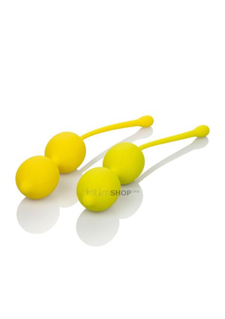 Набор двойных вагинальных шариков California Exotic Novelties Kegel Training Set Lemon