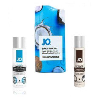 Набор из лубрикантов JO Hybrid водно-силиконовый и водно-кокосовый