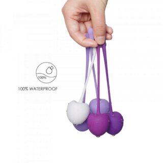 Набор вагинальных шариков S-Hande Cherry в виде вишен разного веса, 5 шт