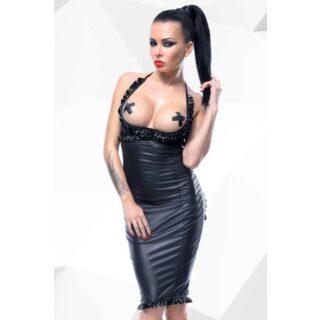 Платье с открытой грудью и вырезом в форме сердца сзади Hard Candy collection Laureen, чёрное, XL