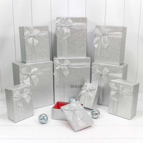 "Подарочная коробка ""Дарите Счастье"" серебристый"