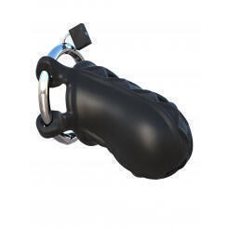 Пояс Верности Extreme Silicone Cock Blocker с закрытой головкой, чёрный