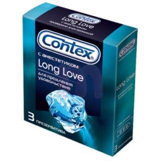 Презервативы с анестетиком для продления полового акта Contex Long Love №3