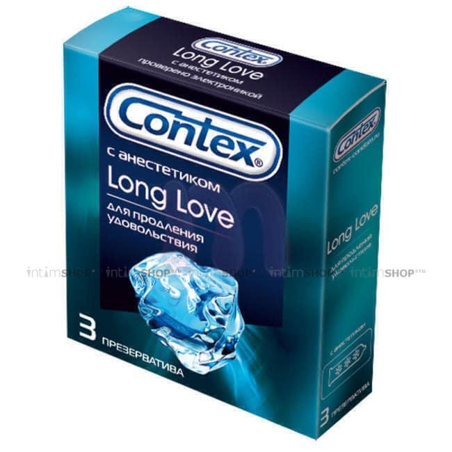 Презервативы с анестетиком для продления полового акта Contex Long Love №3.