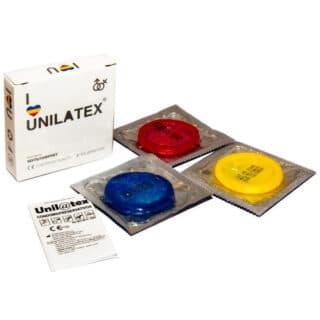 Презервативы Unilatex Multifruits №3 ароматизированные, цветные