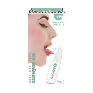 Съедобный гель Hot Gel optimizer для орального секса, с охлаждающим эффектом, со вкусом мяты, 50 мл