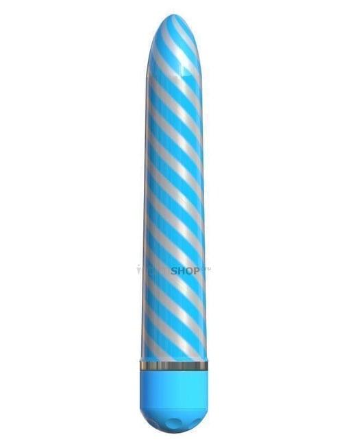 Вибратор-жезл Pipedream Classix Sweet Swirl, голубой