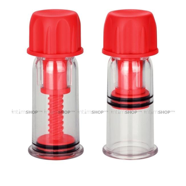 Винтовые помпы для сосков COLT Nipple Pro-Suckers, красные