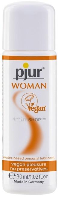 Женский лубрикант Pjur Woman Vegan на водной основе, 30 мл флакон